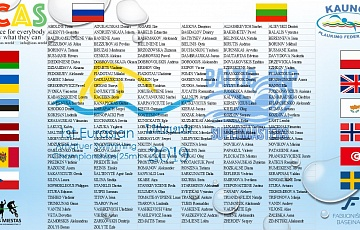 1st Amateur Eurasian Swimming Championships(25m) Lithuania 2019